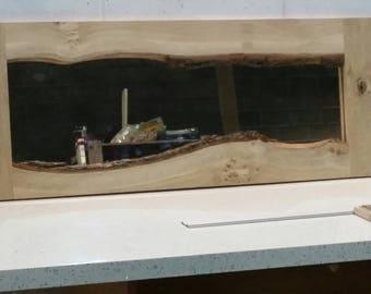 Live edge mirror - oak