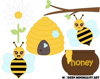 6 PNGS, Cute Bee Clipart, Bee Clip art, Beehive, Spring Clipart, Bees, Cute Clipart, Bumble Bee Clipart, Honey Bee Clipart, Commercial Use