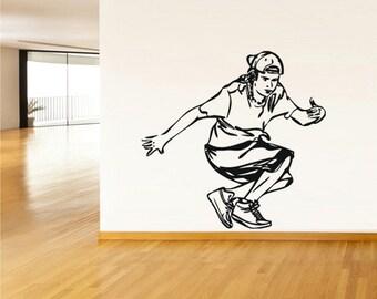 rvz1982 Wall Vinyl Decal Sticker Break Dance Dancing Teenager