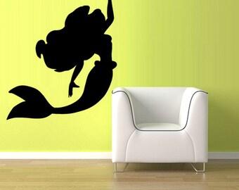 rvz2759 Wall Vinyl Decal Sticker Bedroom Decal Sea Ocean Mermaid Girl Cartoon Nymph