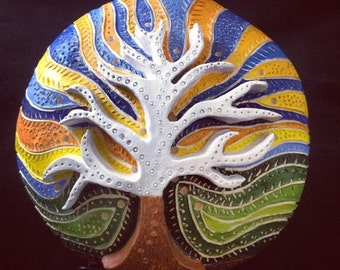 Tree of Life Sculpture Wall Hanging