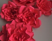 Giant red Paper flower ba...