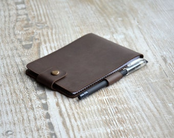 Leather Notebook Cover , Personalized Notebook cover, Leather Moleskine Cover, Handmade leather notepad, mens custom, leather notepad.