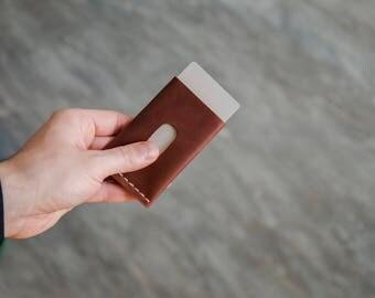 Mens Custom Leather Wallet , Slim Mens Wallets, Gifts for Men, wallets for men, leather wallets,mens wallet, Handor, leather card holder.