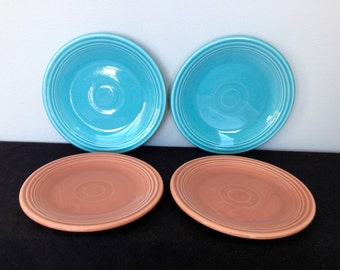 Vintage Fiestaware Bread and Butter Plate - Turquoise or Rose - Only 2 Rose Left!!