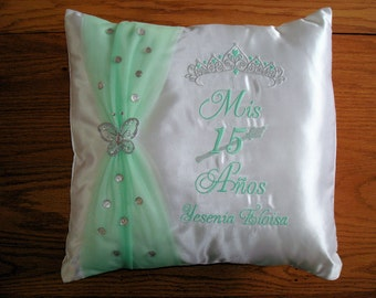PERSONALIZED Quinceanera Pillow 12 x 12 inch