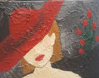 Red Hat Rose Canvas