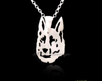 Sterling silver German Shepherd Necklace, German Shepherd, GSD Necklace, Dogs necklaces, Dogs pendants, Sterling Necklace, Dog, dogs gift
