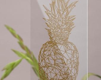 "Plexi glas image ""Ananas No1 lille"""