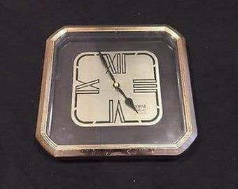 Copal Supreme Quartz Vintage Retro Wall Square Clock - 1980s - 80s