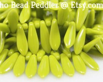 Czech Glass Dagger Beads, 15x5mm, 50 Beads