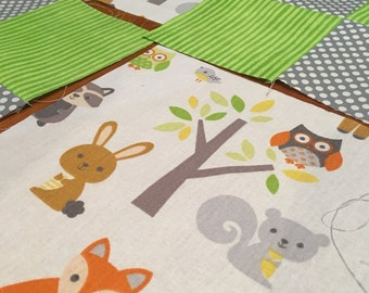 Coming Soon Woodland Animal Baby Quilt
