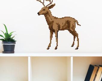 8 Bit Deer Wall Decal