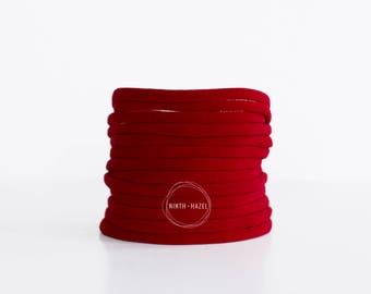 Red Nylon Headband, Nylon Headband, Nylon Headbands, Wholesale Nylon Elastic, Wholesale Headband, Nylon Baby Headband