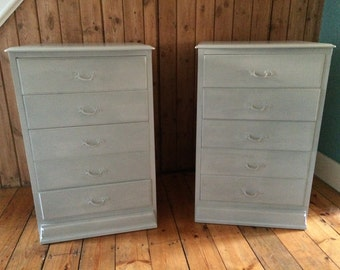 Two bedside cabinets /chests.