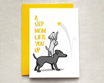 Mother's Day Card, Card for Step-Mother, Step-Mother's Day Card