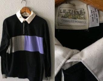 Vintage Le Tigre 1980's Color Blocked Polo Shirt