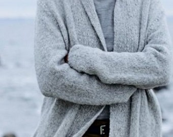 Cardigan/Sweater made of alpaca and Merino Wool