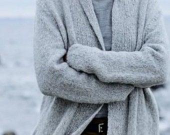 Cardigan/Sweater made of alpaca and Merino Wool