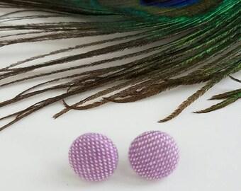 Earrings - Baie Slings Rainbows and Unicorns - Wrap Scrap Earrings - Baie Wrap Scrap - Stainless Steel - Lilac