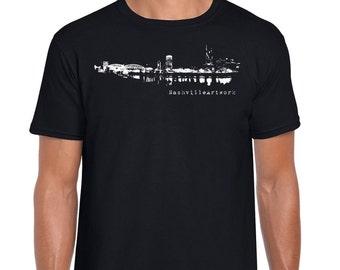 Nashville skyline etsy for Nashville t shirt printing
