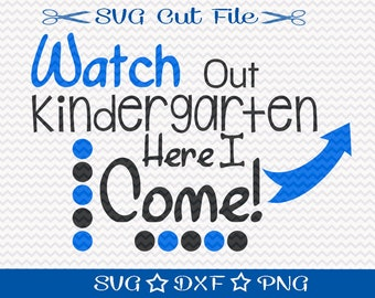 First Day of School SVG File / SVG Cut File for Silhouette / Beginning of School Year / Svg for Teachers / Kindergarten svg