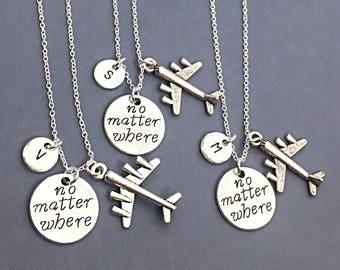 Sale,3 Custom BFF Necklaces, Friend Charm Jewelry, Gift For Friends, Friendship Necklaces For 3,No Matter Where,Custom,Personalize,Distance