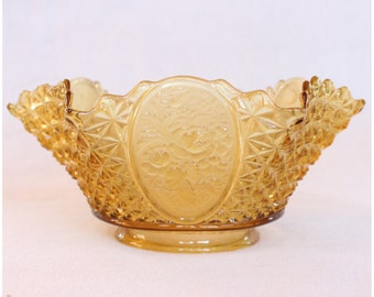 S1011 Antiques  Amber Glass Victorian Gas Shade Replacement glass