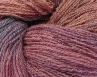 "Wool hand paint multicolor knitting yarn ""Peony"" pure wool, fingering 2-ply worsted 100g/350m"