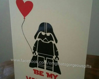 Star Wars Valentine Card Darth Vader   Valentines Day Card