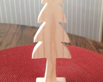 Wooden pine tree