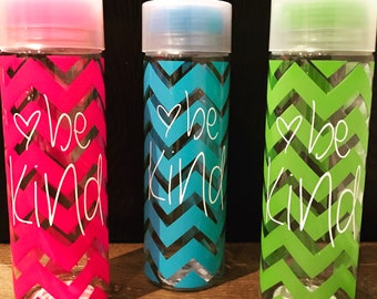 Chevron Be Kind Water bottle