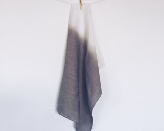 Grey Dipped Linen Tea Towel