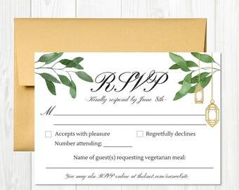 Garden-Themed RSVP Card Printable