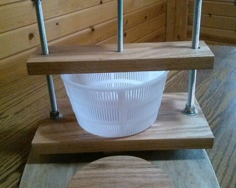 Cheese Press adjustable  Made in Michigan! Solid Oak!