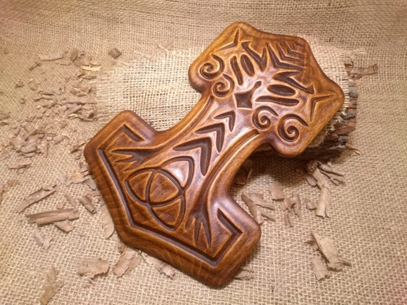 how to make a thor hammer out of wood