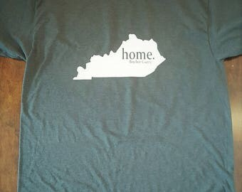 T-Shirt with Home State and City or County/Home State Tees/Monogram T-shirts