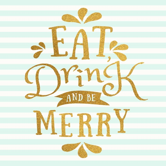 Eat, Drink & Be Merry Coaster Set