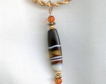Central Asian Banded Glass Bead