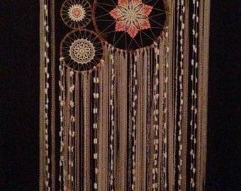 Dream Catcher Bedhead Crochet Wall Hanging Boho Eco friendly