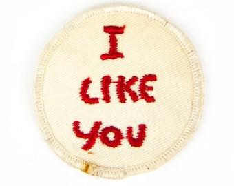 I Like You Vintage Patch