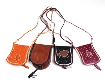 Small Leather Tuareg Purse