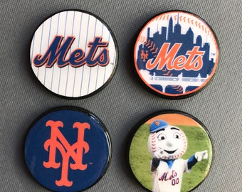 New York Mets Gifts Baseball Team Gifts for Mets Fans Sports Fan Magnets Magnet Orange and Blue Gifts Ideas Under 20 Gifts for Dad for Son