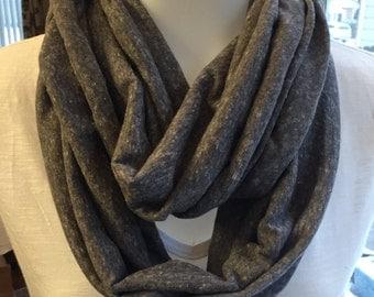 Heathered grey infinity scarf - Soft jersey knit scarf - Grey scarf - Infinity scarf.  Great gift.