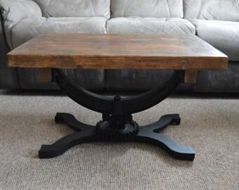 Industrial Reclaimed Vintage Loft Style Coffee Table