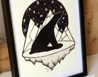 "Framed print of ""Polar bear"""