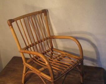 Child Chair rattan of the years 60/70
