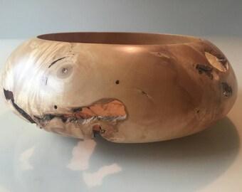 Red Box Elder Burl Bowl