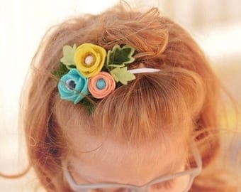 Billie  // Petite Poppy Headband // Felt flower crown headband // kikiandbee