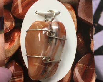 """Sardonix Wrapped with 925 Silver Wire Pendant (Said to Increase Life force energy) Buy 2 Pendants & get a FREE 18"""" SS chain"""